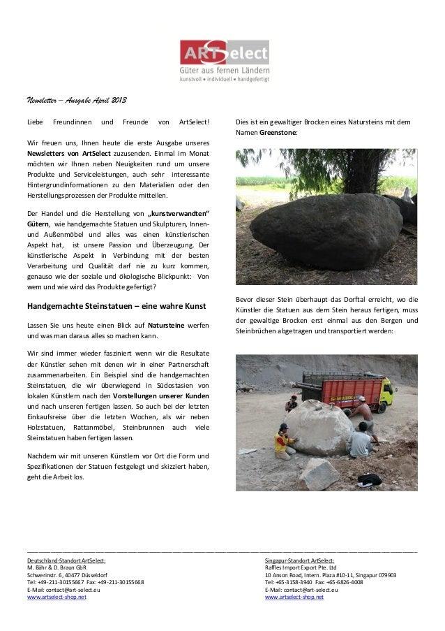 Newsletter – Ausgabe April 2013___________________________________________________________________________________________...