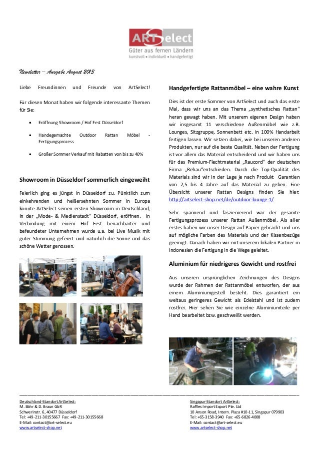 Newsletter – Ausgabe August 2013 _________________________________________________________________________________________...