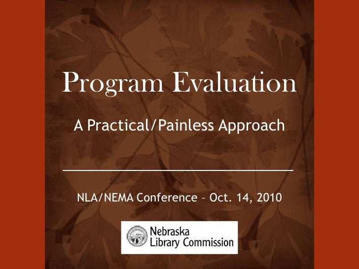 Ins and Outs of Program Evaluation