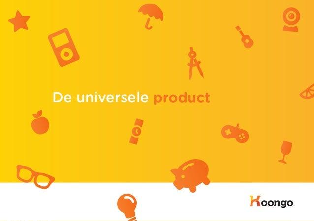 De universele product export                               1