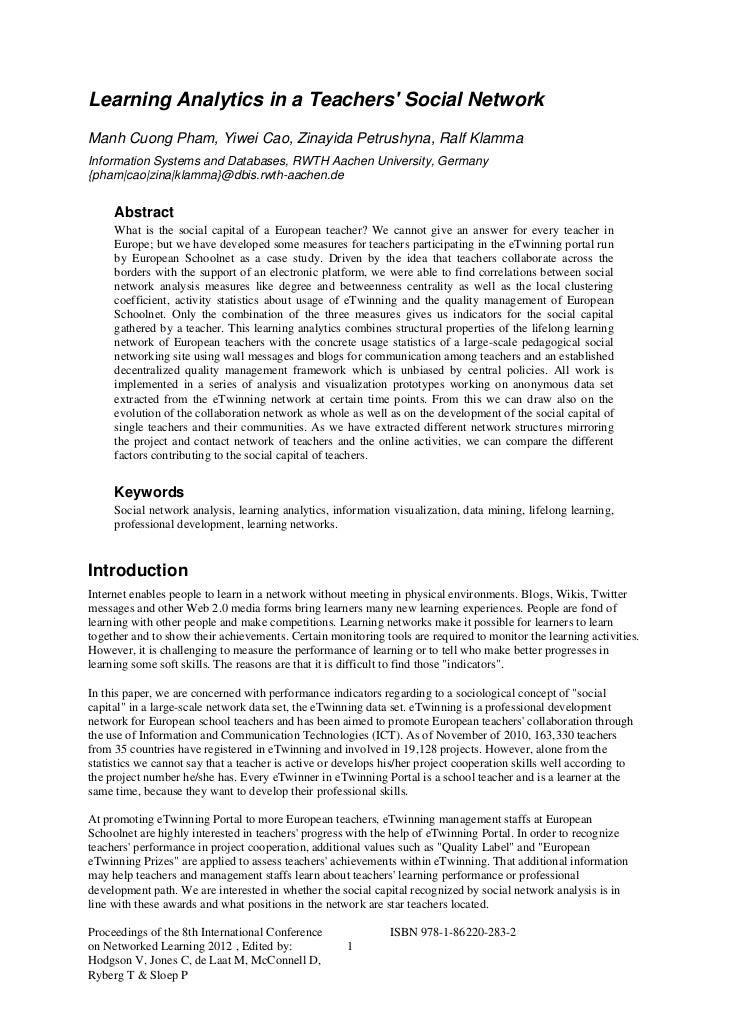 Learning Analytics in a Teachers Social NetworkManh Cuong Pham, Yiwei Cao, Zinayida Petrushyna, Ralf KlammaInformation Sys...