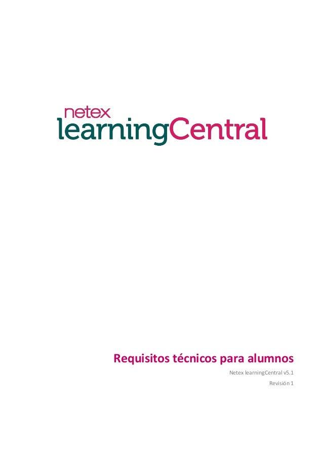 Netex learningCentral | Requisitos técnicos para alumnos [Es]