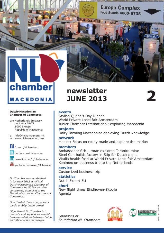NL Chamber Newsletter 2013 Q2