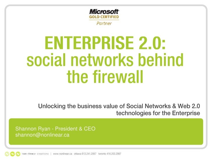 Enterprise 2.0: Social Networking in the Corporation