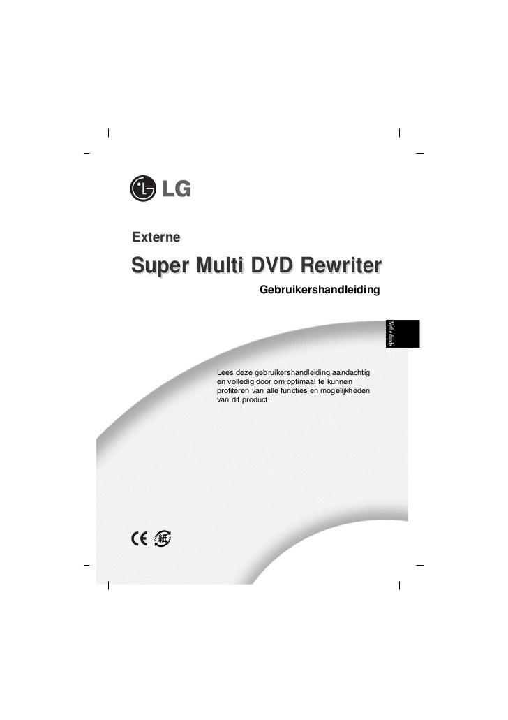 ExterneSuper Multi DVD Rewriter                      Gebruikershandleiding                                                ...