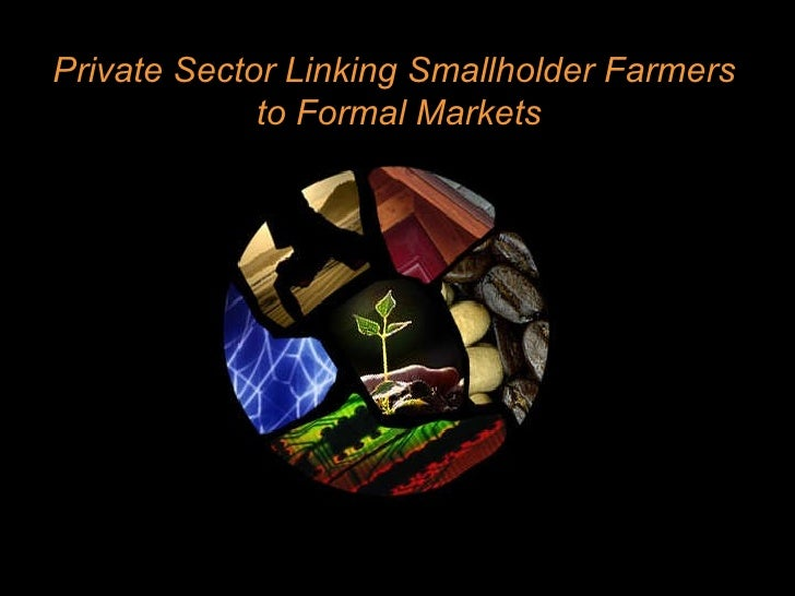 Private Sector Linking Smallholder Farmers  to Formal Markets