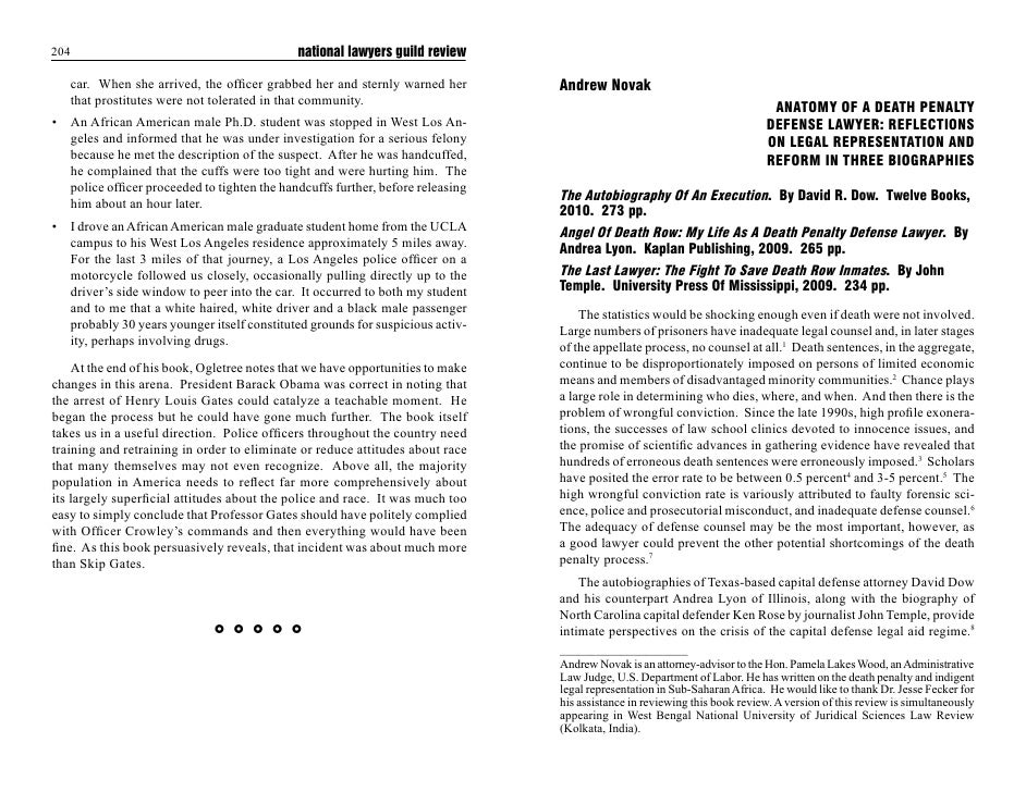 national lawyers guild review   FDU :KHQ VKH DUULYHG WKH RI¿FHU JUDEEHG KHU DQG VWHUQO ZDUQHG KHU         Andrew Novak   W...