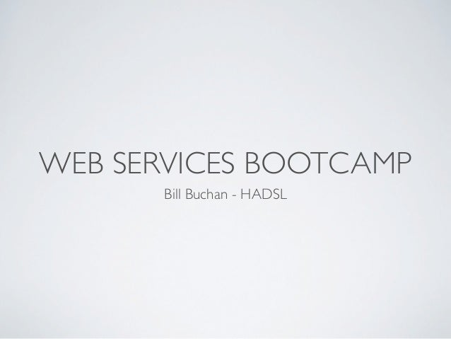 Nllug 2010 - Web-services bootcamp