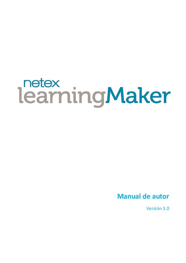 Netex learningMaker | Author Manual v3.0 [Es]