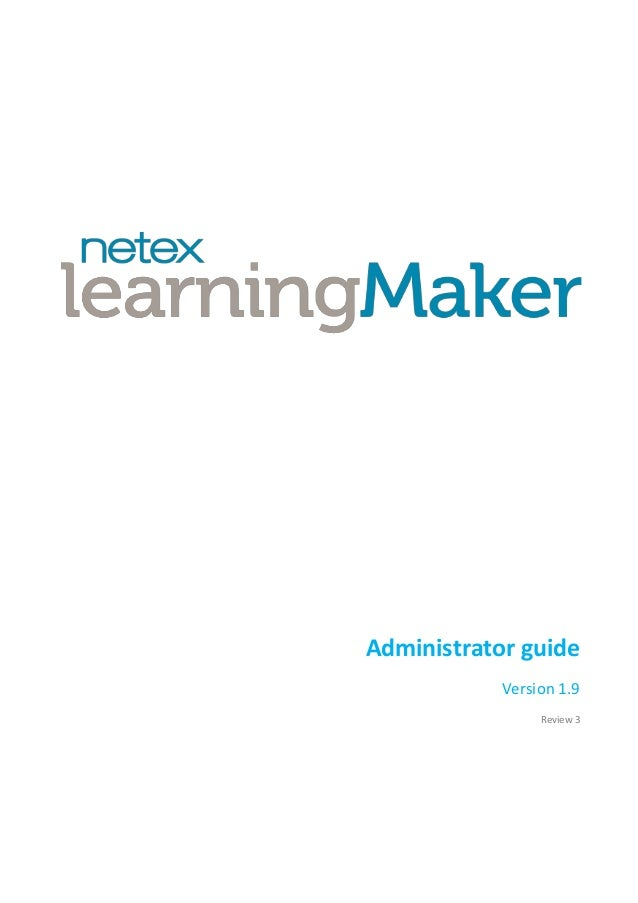 Administrator guide Version 1.9 Review 3