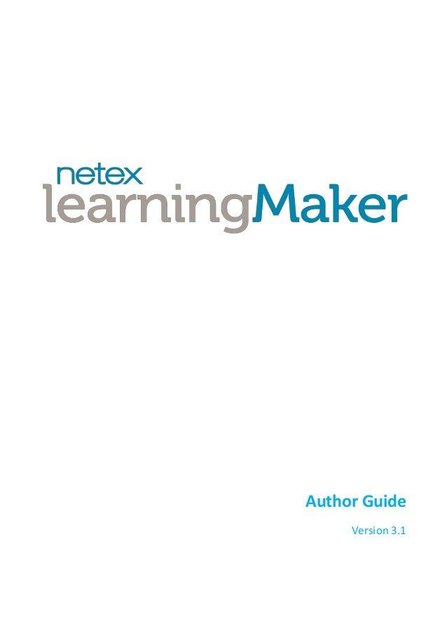Netex learningMaker   Author Guide v3.1 [En]