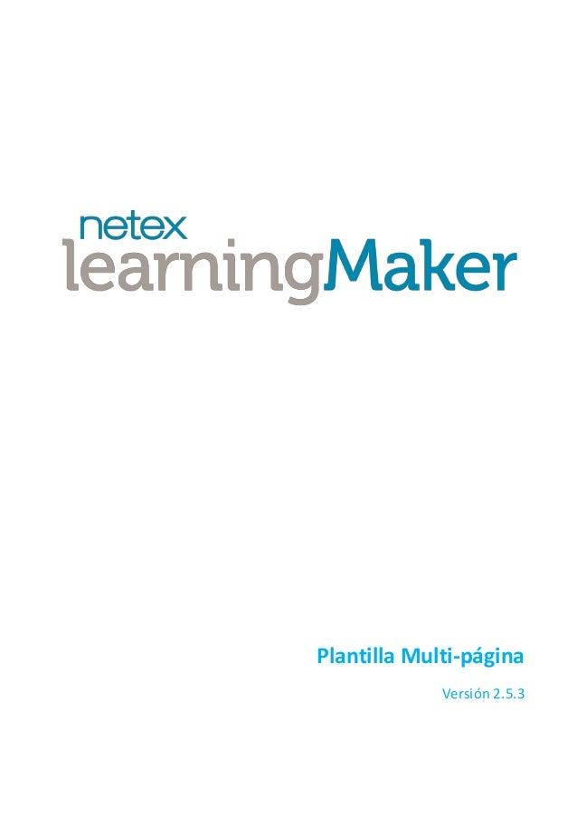 Plantilla Multi-página Versión 2.5.3