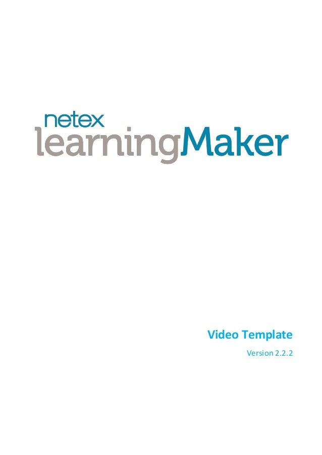 Netex learningMaker | Video Template v2.2.2 [En]