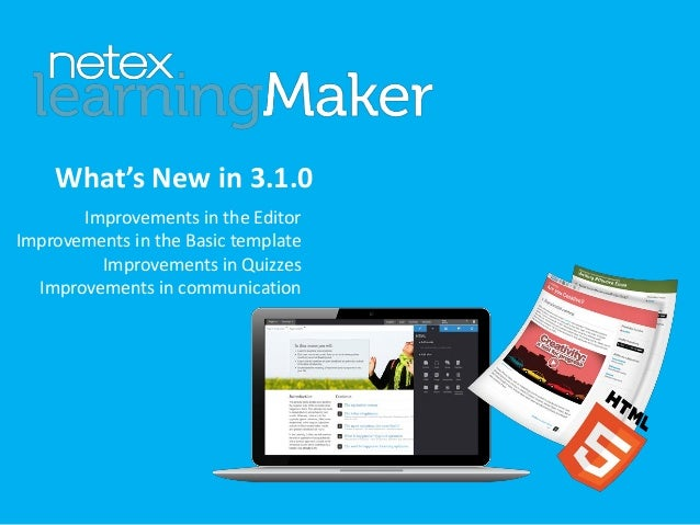 What's New in 3.1.0 Improvements in the Editor Improvements in the Basic template Improvements in Quizzes Improvements in ...