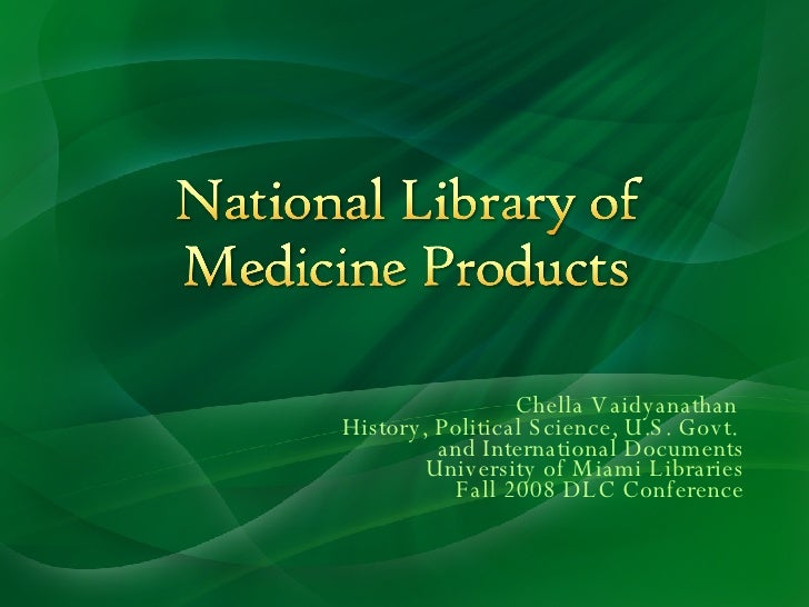National Library of Medicine Products