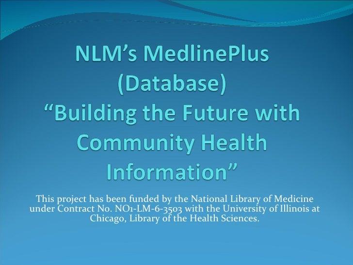 MedlinePlus Grant Powerpoint