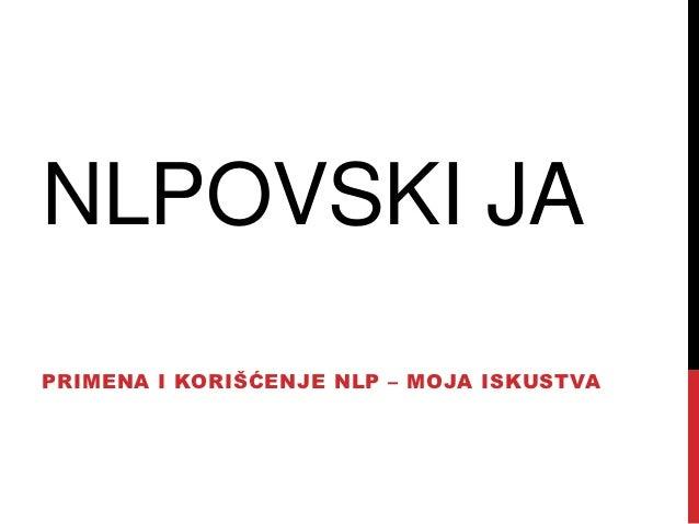 NLP i ja - Miroslav Kovačević