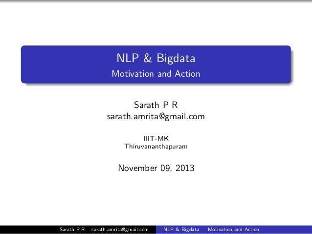 NLP& Bigdata. Motivation and Action