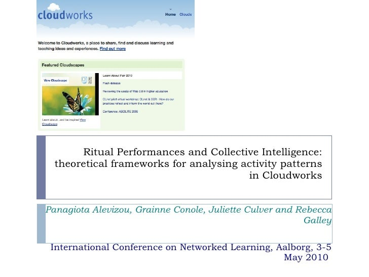 Ritual Performances and Collective Intelligence: theoretical frameworks for analysing activity patterns in Cloudworks Pana...