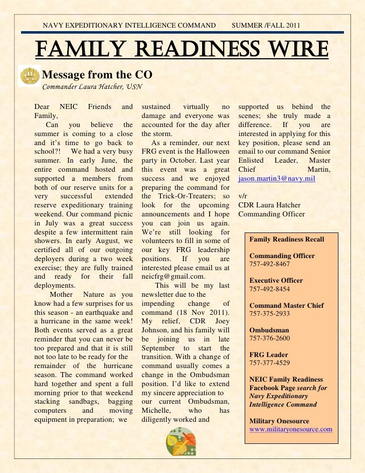 NEIC Fall 2011 Newsletter