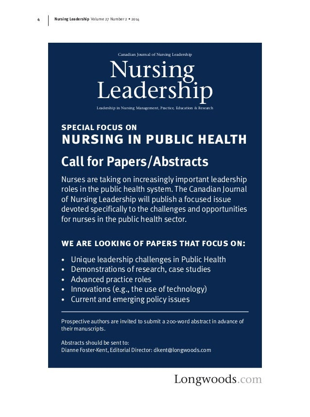 nursing leadership essays