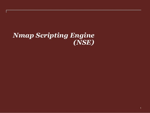 Nmap scripting engine