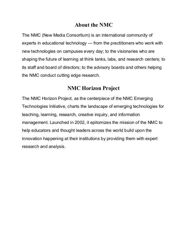 NMC Horizon Project
