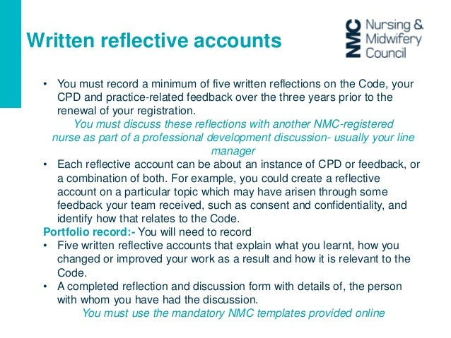 reflective account 4 The reflective accounts aim to invite readers into a stronger sense of actual events using reflective written accounts to tell a professional story comes from various traditions in social science several authors (taylor, 2008 taylor, c (2008.
