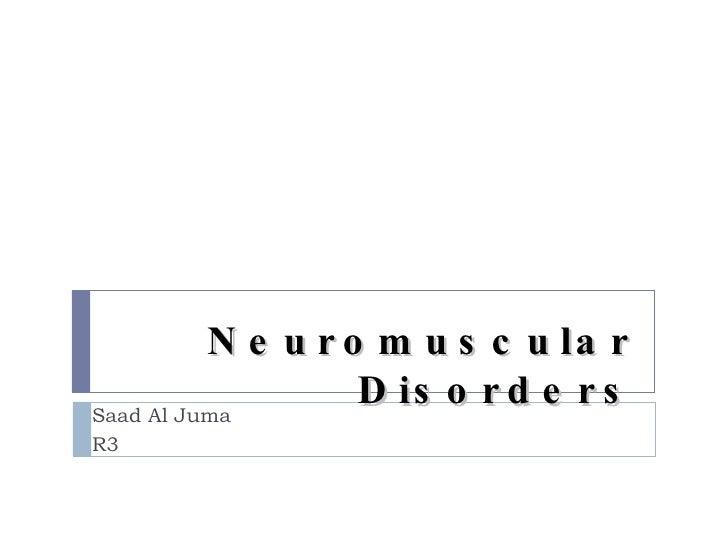 Nm disorder