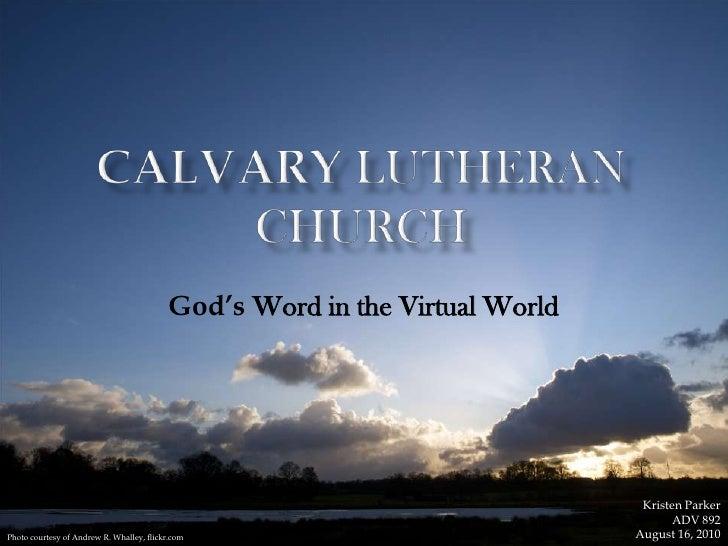 Calvary Lutheran Church ADV 892 presentation
