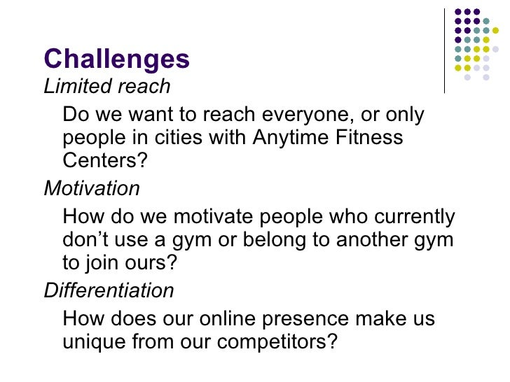 Anytime fitness business plan