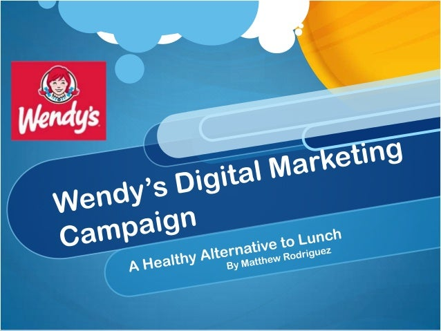 Nmdl wendy's campaign