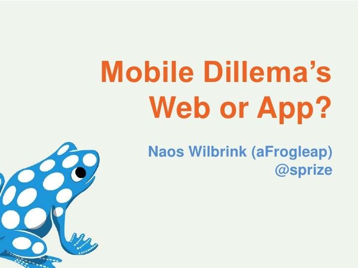 Mobile dilemma's op de Nationale Marketingdag