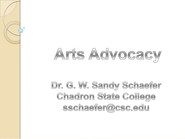 Chadron State College Sandy Schaefer Music Advocacy NMEA 2013