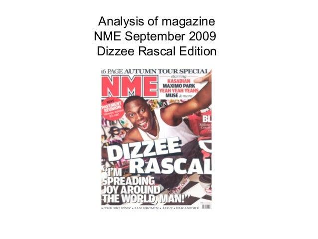 Analysis of magazineNME September 2009Dizzee Rascal Edition