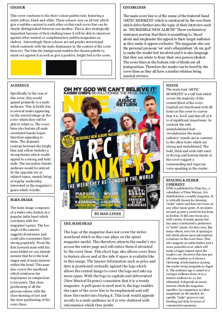 NME: Magazine Cover Analysis
