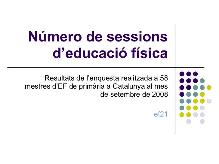 Número De Sessions D'educació Física