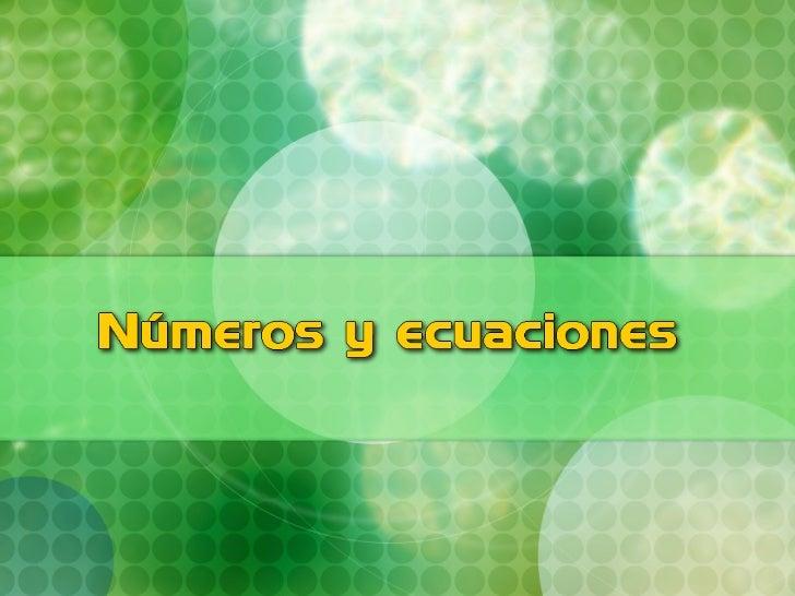 Números y-ecuaciones