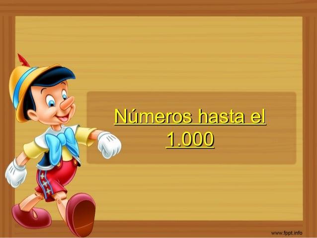 Números hasta elNúmeros hasta el 1.0001.000