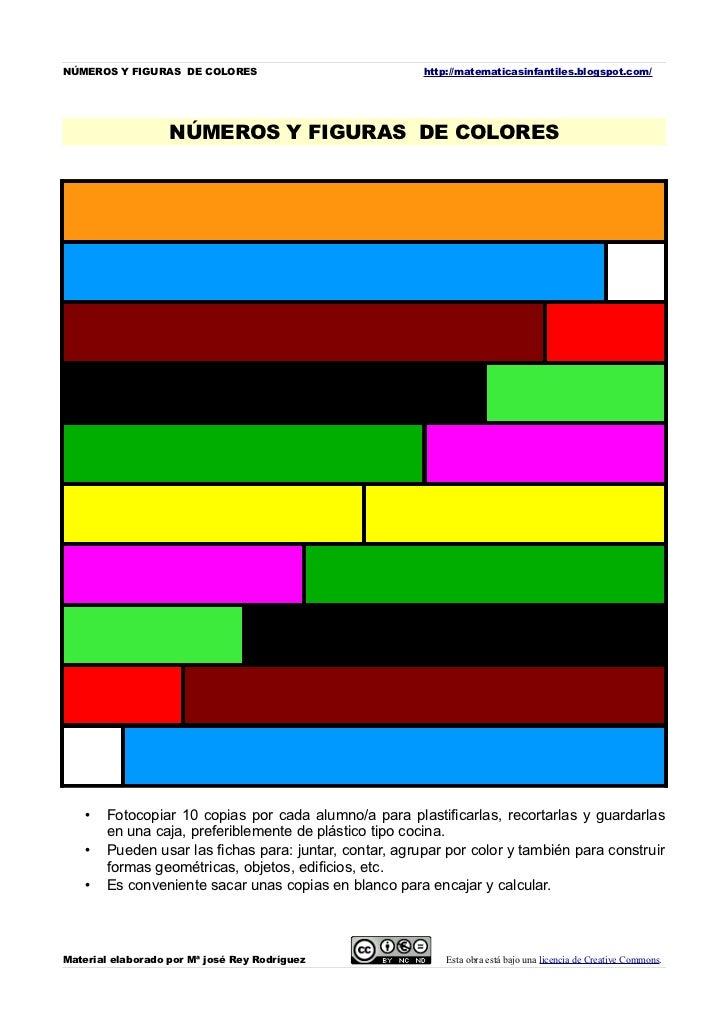 NÚMEROS Y FIGURAS DE COLORES                            http://matematicasinfantiles.blogspot.com/                   NÚMER...