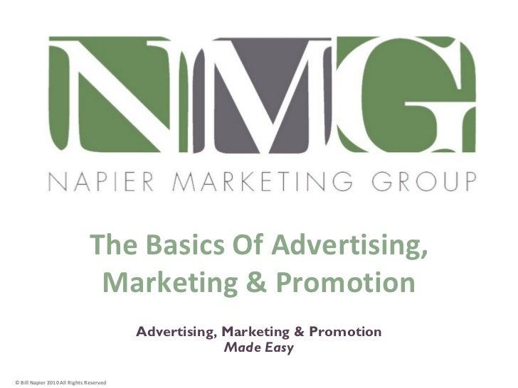 The Basics Of Advertising,                                Marketing & Promotion         1                                 ...