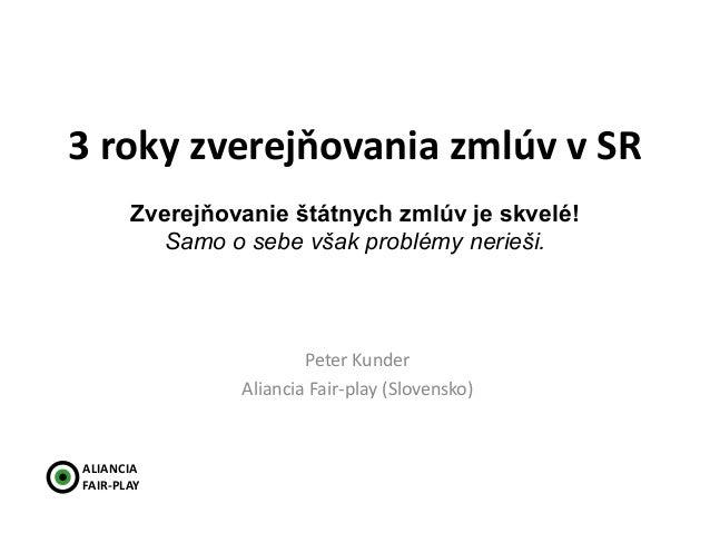 NMI14 Peter Kunder - Zveřejňování státních smluv je skvělé. Samo o sobě však problémy neřeší.