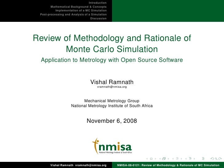 Introduction         Mathematical Background & Concepts            Implementation of a MC Simulation  Post-processing and ...