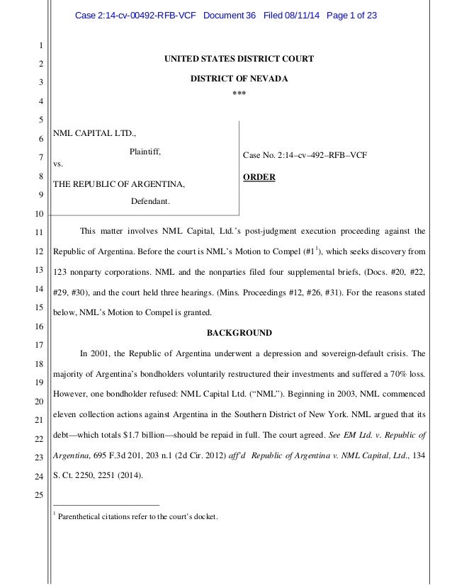 nml motion to compel 123 entities in nevada