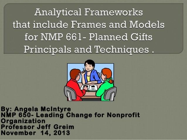 By: Angela McIntyre NMP 650- Leading Change for Nonprofit Organization Professor Jef f Greim November 14, 2013