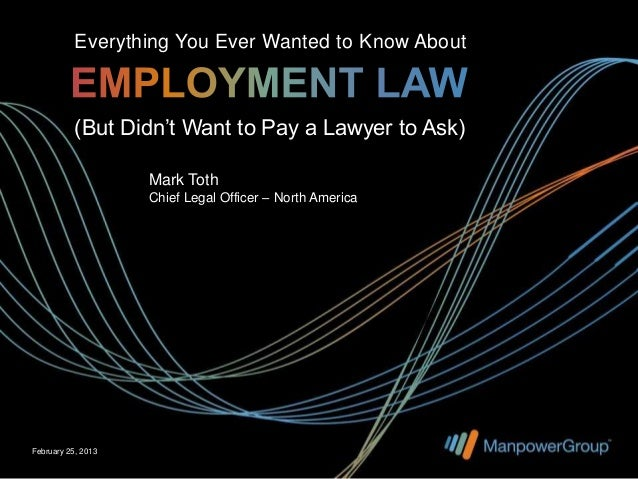 Everything You Ever Wanted to Know About           (But Didn't Want to Pay a Lawyer to Ask)                    Mark Toth  ...