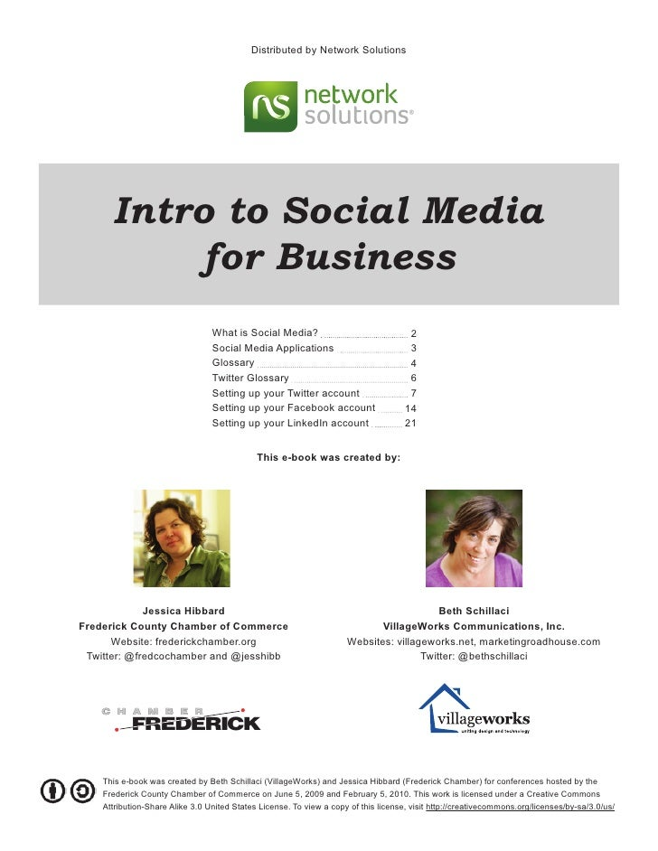 Distributed by Network Solutions      Intro to Social Media           for Business                                 What is...