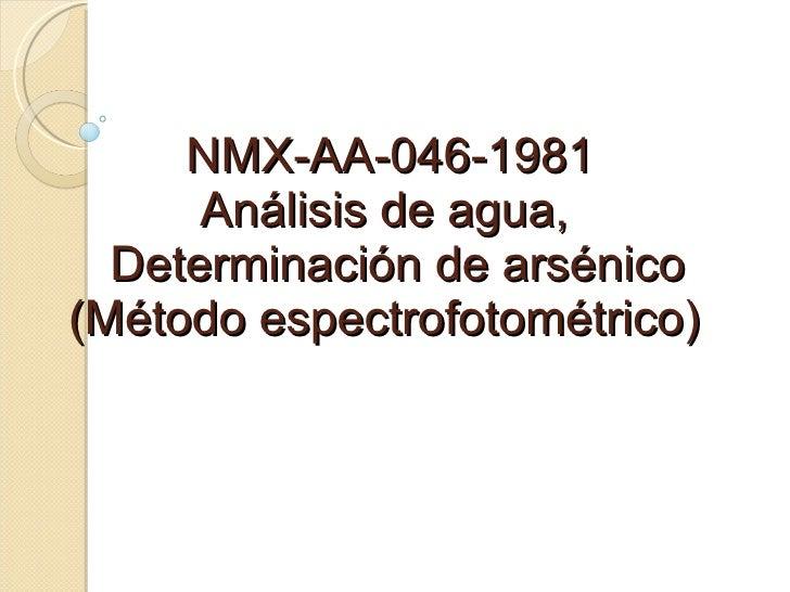 Nmx aa-046-1981