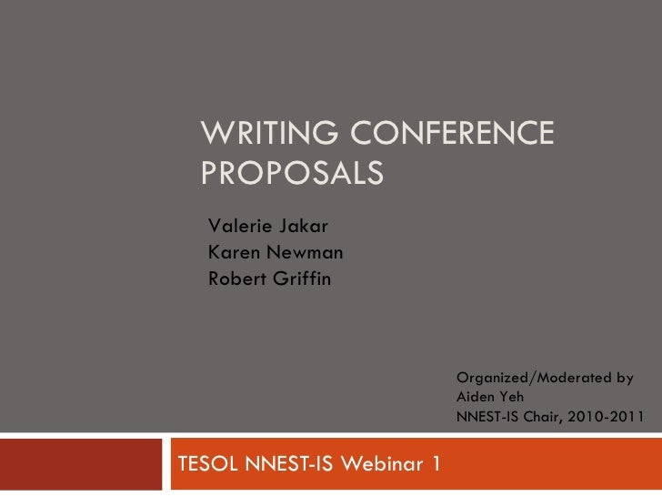 Writing Conference Proposals Webinar
