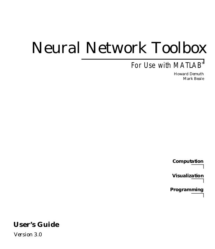 Neural Network Toolbox MATLAB